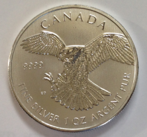 photo of the horned owl from the canadian mint's birds of prey series