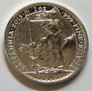 reverse of a silver britannia coin