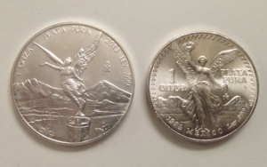 Mexican libertad silver coins obverse